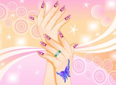 Polka Nails Game - Girls Games