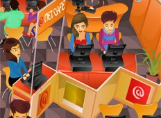 HotSpot Net Cafe Game - Girls Games